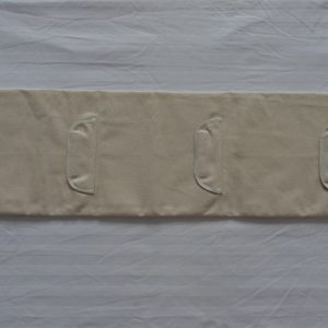 Three Sectional White Canvas Wall Bag with Cow Leather